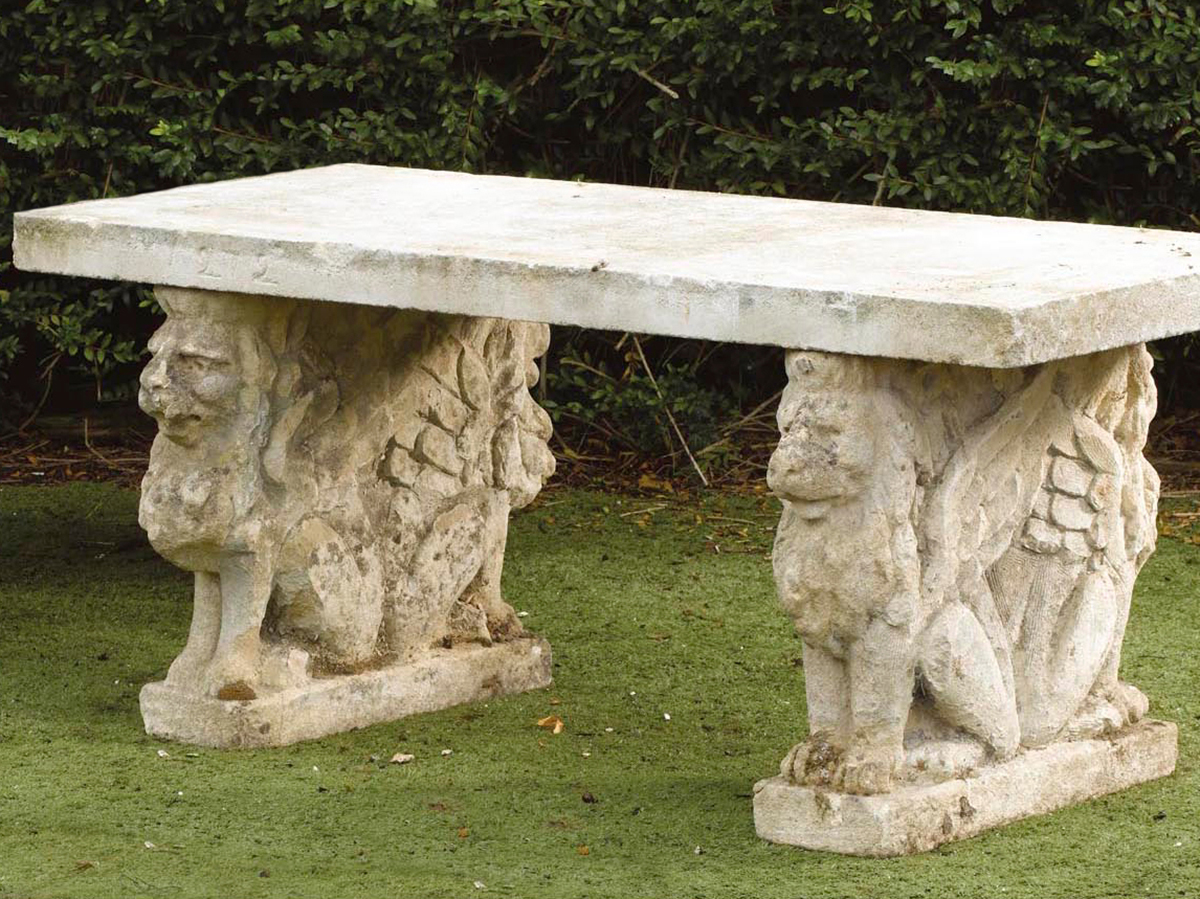 Stupendous Our Antique Stone Benches By Ancient Surfaces Frankydiablos Diy Chair Ideas Frankydiabloscom