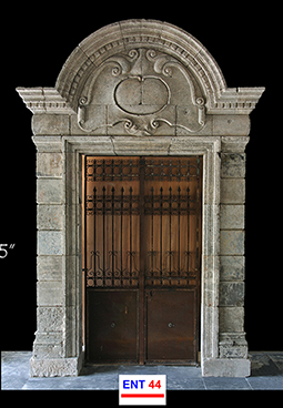Ancient renaissance limestone entryway reclaimed from Italy Circa 1600's