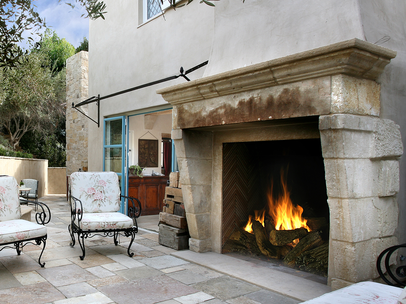 A Unique Collection Of Outdoor Patio Antique Stone Fireplace Mantles By Ancient Surfaces