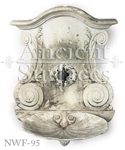 Hand carved stone water fountain